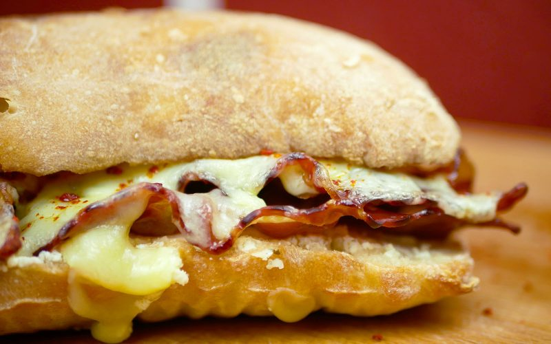 The Ultimate Bacon Cheddar Sandwich