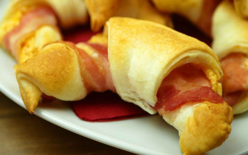 Chili Cheese Bacon Croissants