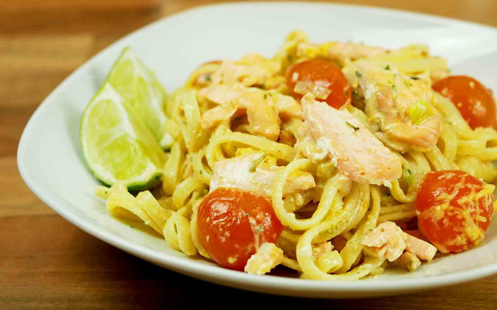 Salmon Linguine