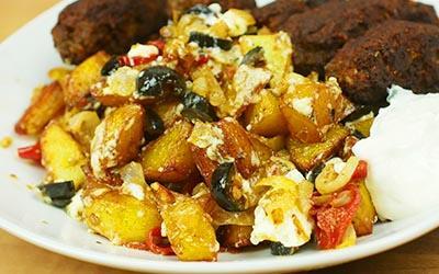 Bratkartoffeln nach griechischer Art